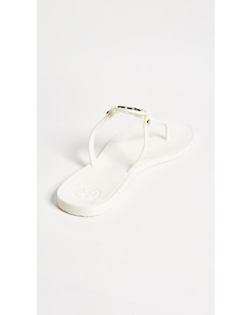 420dcc25eee8e tory burch mini miller flat thong sandals in black lyst wholesale ...