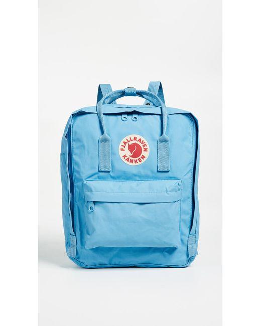 b1e2488fd Fjallraven Kanken Backpack in Blue - Save 6% - Lyst