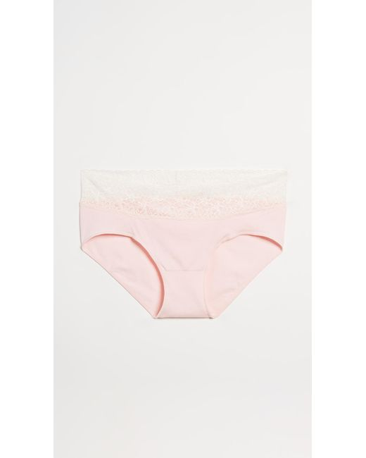 Rosie Pope - Pink Seamless Maternity Panties With Lace - Lyst