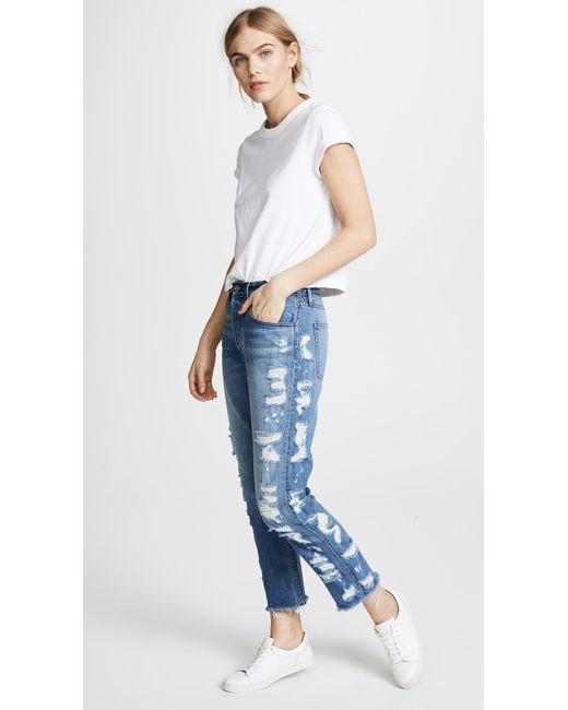 3x1 - Blue Higher Ground Crop Jeans - Lyst