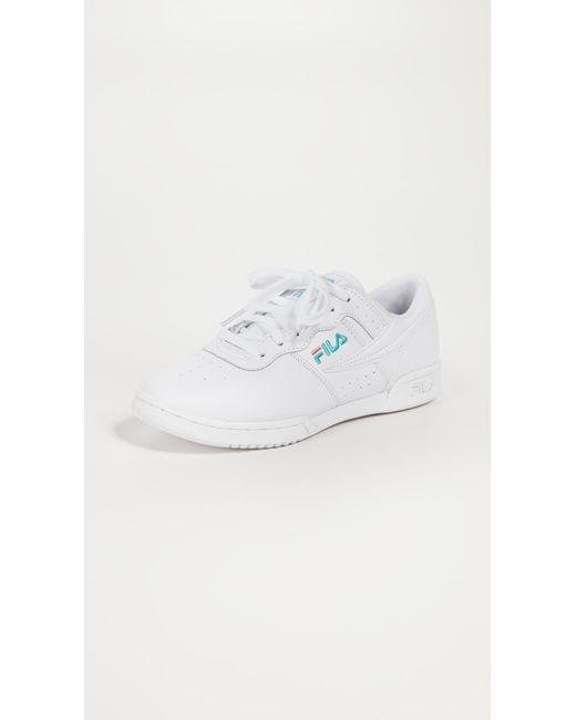 Fila - White Original Fitness Sneakers - Lyst ... 74ec2835f