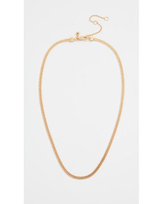 Madewell - Metallic Georgia Chain Necklace - Lyst