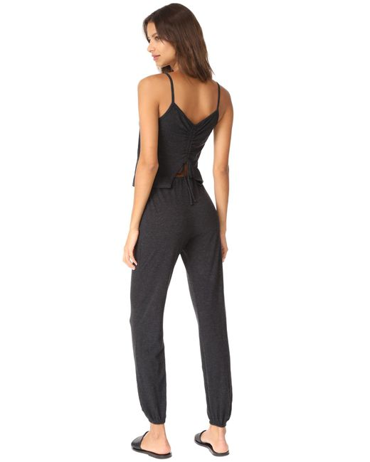 Lanston | Black Drawstring Back Jumpsuit | Lyst