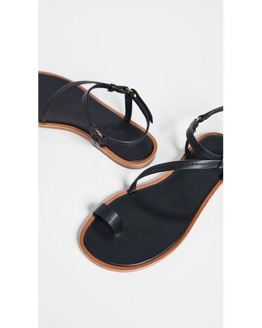 177ae8ac87e Vince - Black Perrigan Toe Ring Sandals - Lyst ...