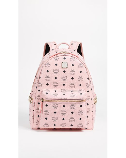 MCM - Pink Small Side Stark Backpack - Lyst