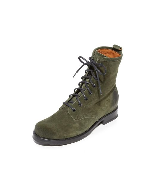 Frye | Green Veronica Combat Boots | Lyst