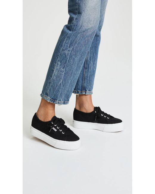 6ef69f21e0 Superga 2790 Acotw Platform Sneakers in Black - Save 45% - Lyst
