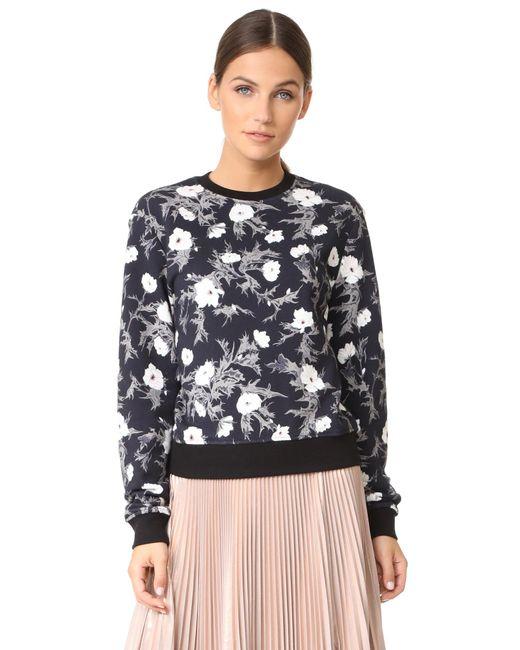 Carven | Black Long Sleeve Sweatshirt | Lyst