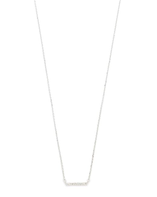 Adina Reyter - Metallic Pave Bar Necklace - Lyst