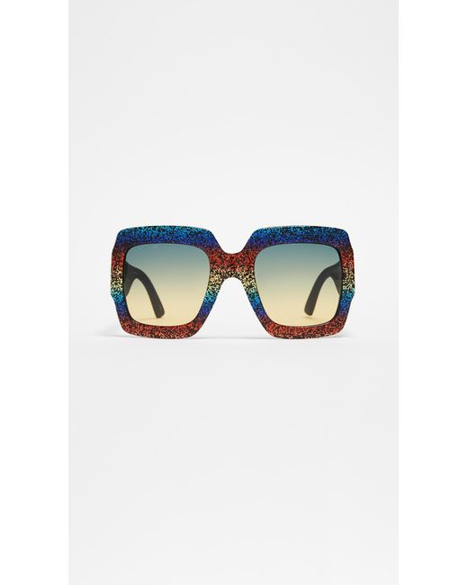 bdd39dbb01 Gucci - Multicolor Pop Glitter Iconic Oversized Square Sunglasses - Lyst ...