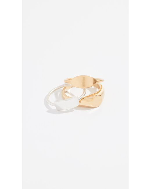 Madewell - Multicolor Signet Ring Stack - Lyst