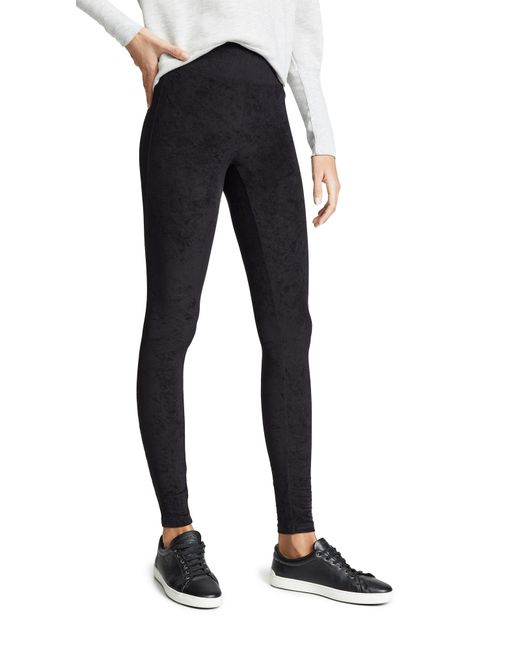 bb7b71bc72bae9 ... James Perse - Black High Waist Velvet Leggings - Lyst