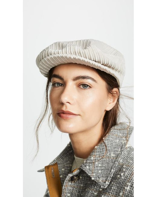 b52ea09a Isabel Marant Gabor Newsboy Hat in Natural - Save 40% - Lyst