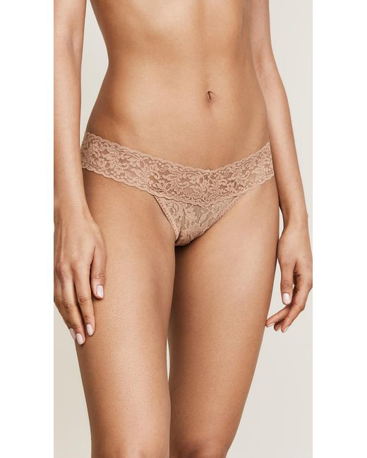Hanky Panky - Natural Signature Lace Low Rise Thong - Lyst