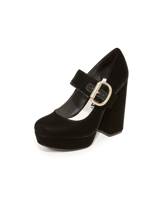 Alice + Olivia | Black Houston Platform Mary Jane Pumps | Lyst