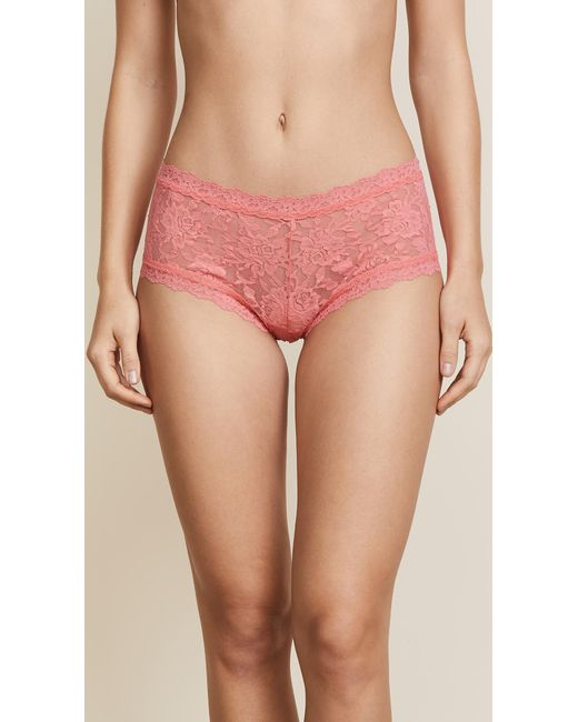 Hanky Panky - Pink Signature Lace Boy Shorts - Lyst