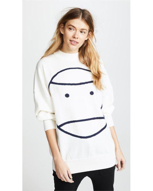 Tory Sport - White Performance Merino Oversized Sweater - Lyst