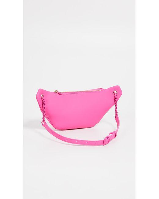 8a705307a02 ... Tory Burch - Pink Fleming Matte Belt Bag - Lyst ...