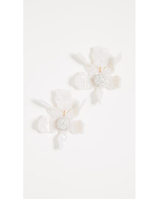 Lele Sadoughi - White Crystal Lily Earrings - Lyst