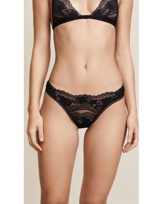 La Perla - Black Lapis Lace Thong - Lyst