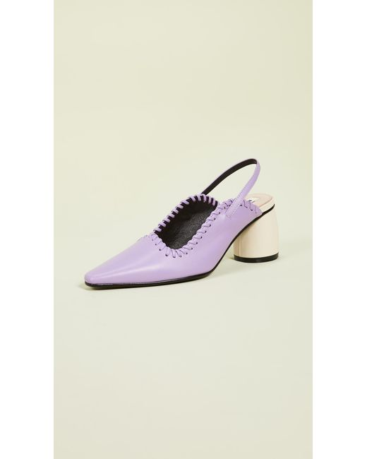 11f12a94574ef Reike Nen - Purple Curved Middle Slingback Pumps - Lyst ...
