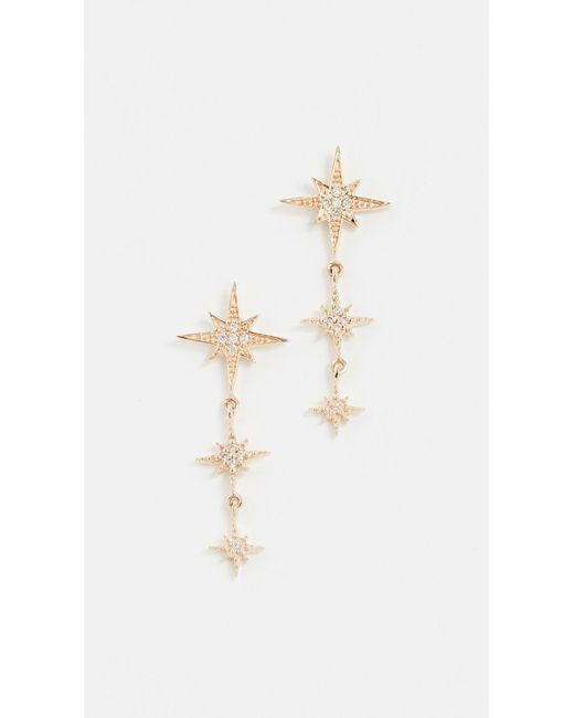 Sydney Evan - Metallic Starburst 3 Drop Earrings - Lyst