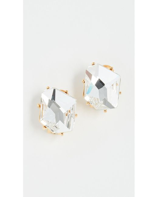Kenneth Jay Lane - Multicolor Crystal Clip On Earrings - Lyst
