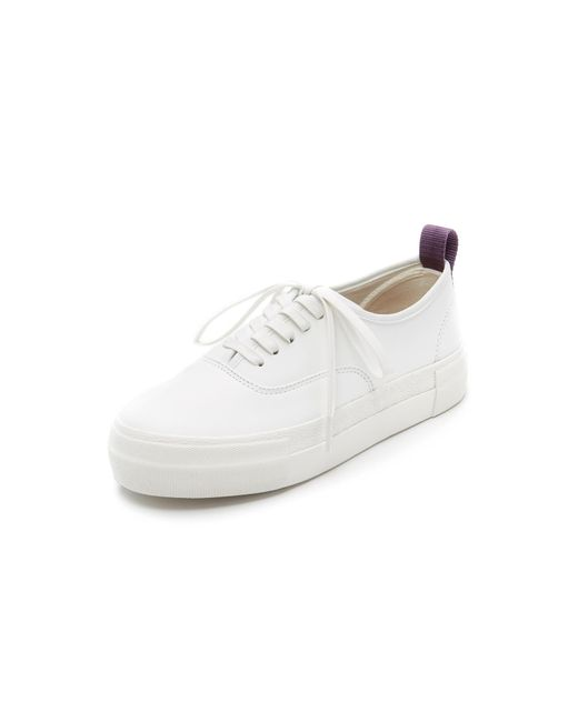 Eytys - White Mother Leather Sneakers - Lyst