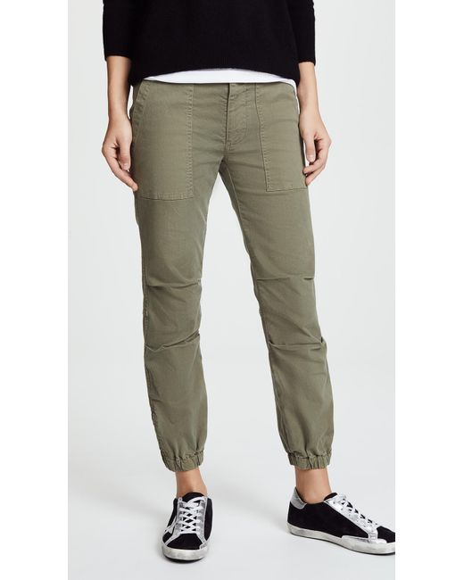 Nili Lotan - Green Cropped Military Pants - Lyst