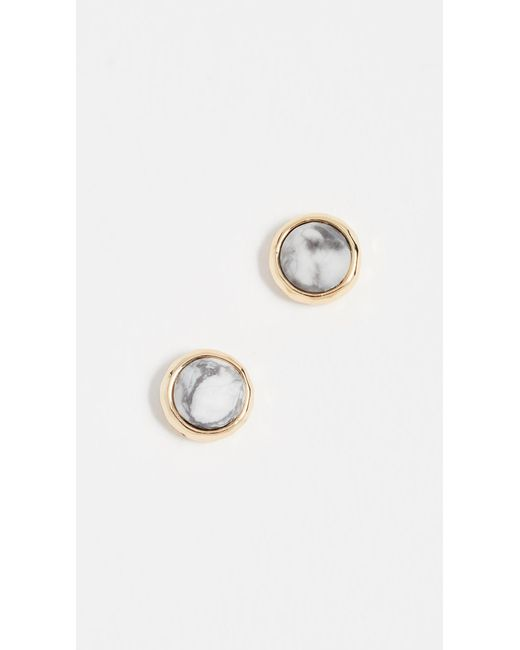 Gorjana - Metallic Power Gemstone Stud Earrings - Lyst