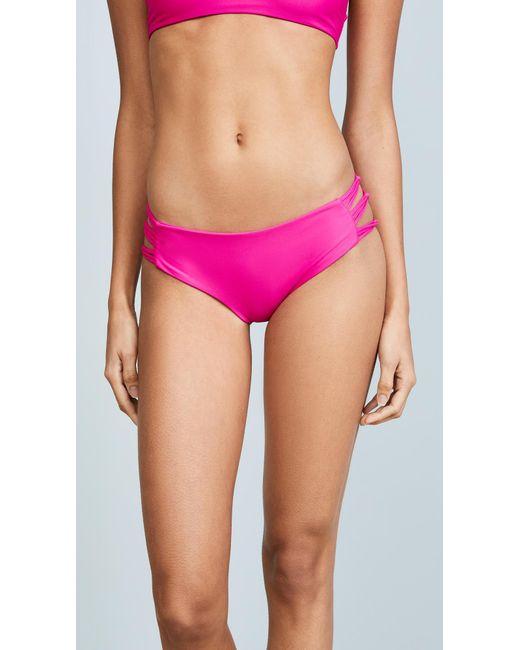 Mikoh Swimwear | Pink Barcelona Bikini Bottoms | Lyst