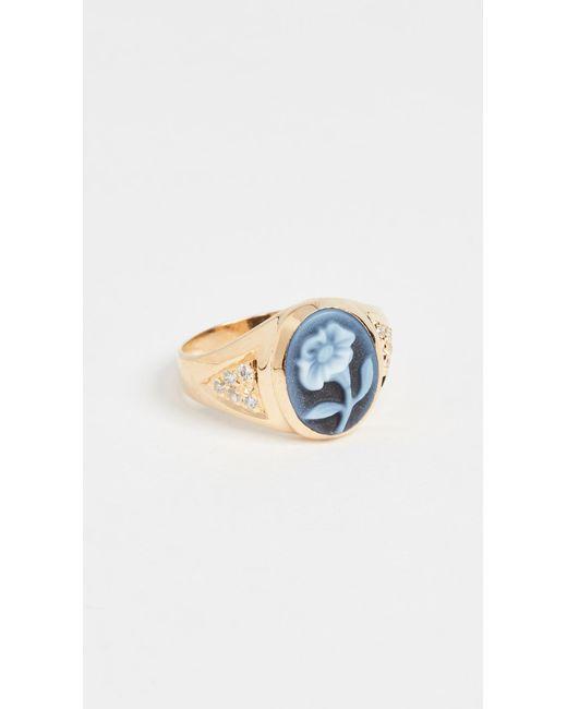 Jacquie Aiche - Metallic Ja Small Daisy Ring - Lyst