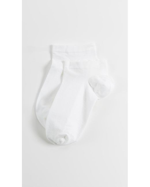 Wolford - White Sneaker Cotton Socks - Lyst