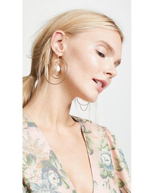 Tory Burch - Metallic Multi Hoop Pearl Earrings - Lyst