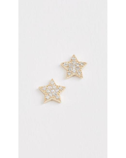 Shashi - Metallic Star Stud Earrings - Lyst