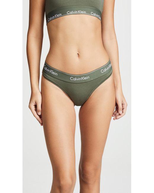 Calvin Klein - Green Modern Cotton Unlined Bralette - Lyst