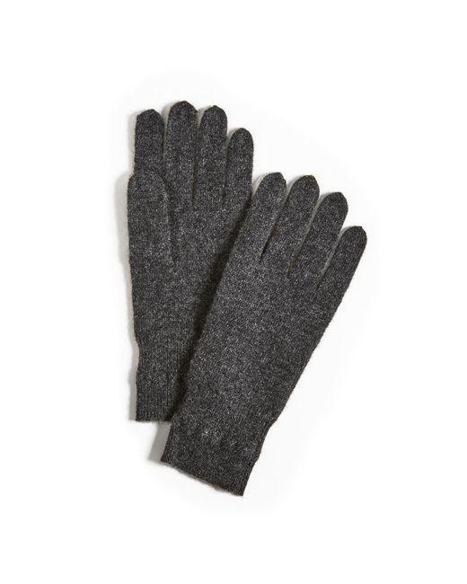 White + Warren | Gray Cashmere Cross Stitch Gloves | Lyst
