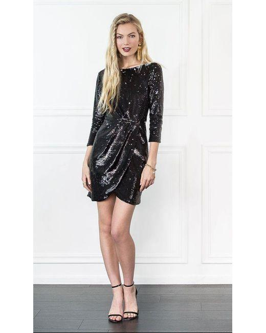 Rachel Zoe | Black Shelley Sequin Mini Dress | Lyst