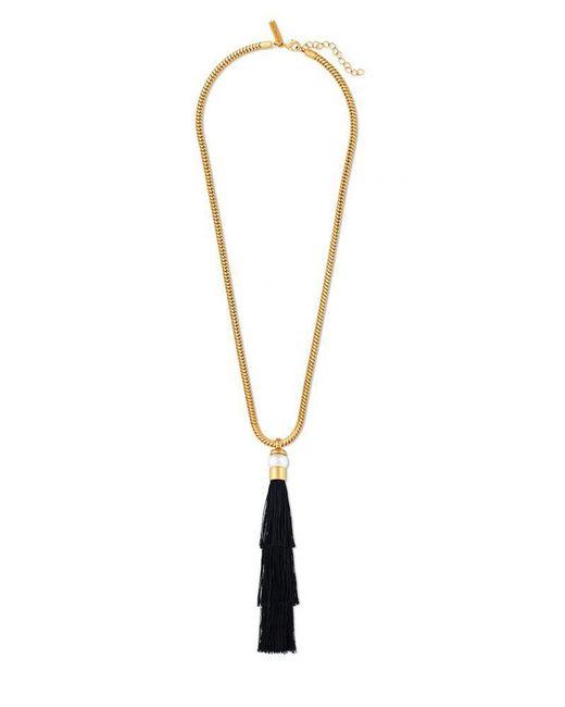 Rachel Zoe | Metallic Gracie Silk Tassel Necklace | Lyst