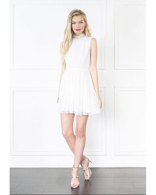 Rachel Zoe - White Yates Lace Mini Dress - Lyst