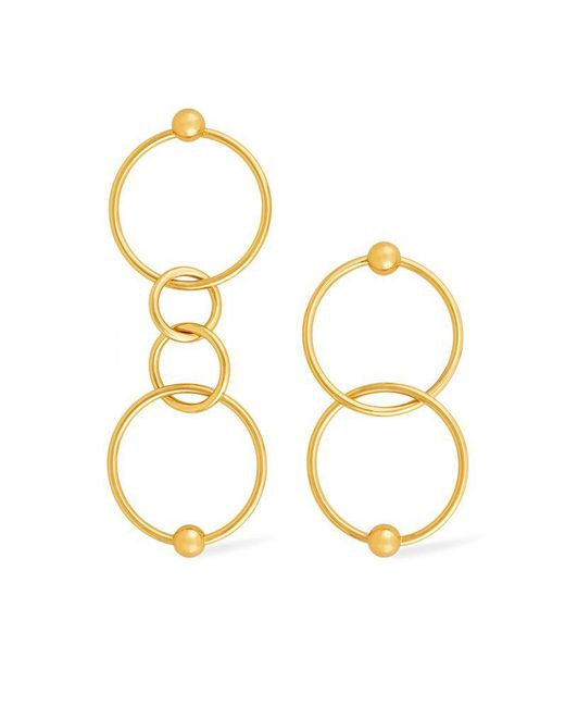 Rachel Zoe - Metallic Elyse Multi-hoop Earrings - Lyst