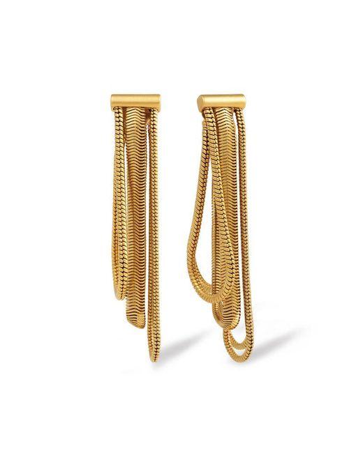Rachel Zoe - Metallic Jade Snake-chain Drop Earrings - Lyst