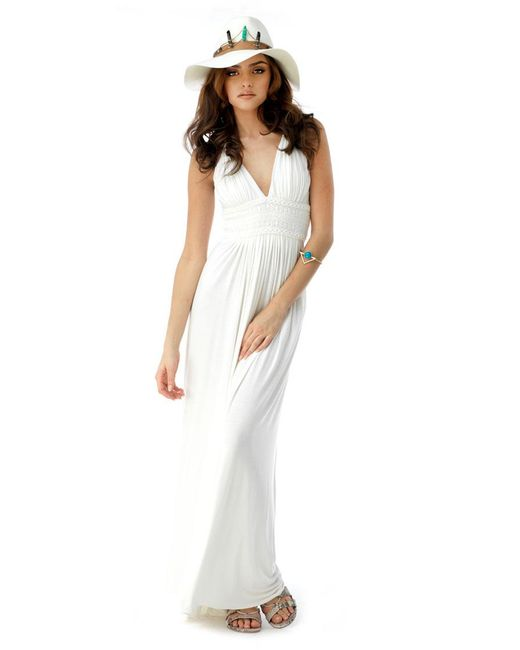 Sky - White Quartz Maxi Dress - Lyst