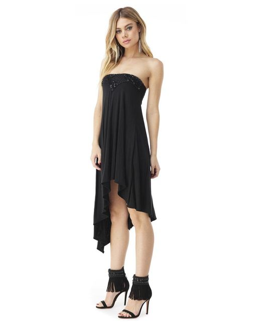 Sky | Black Pankrati High Low Dress | Lyst