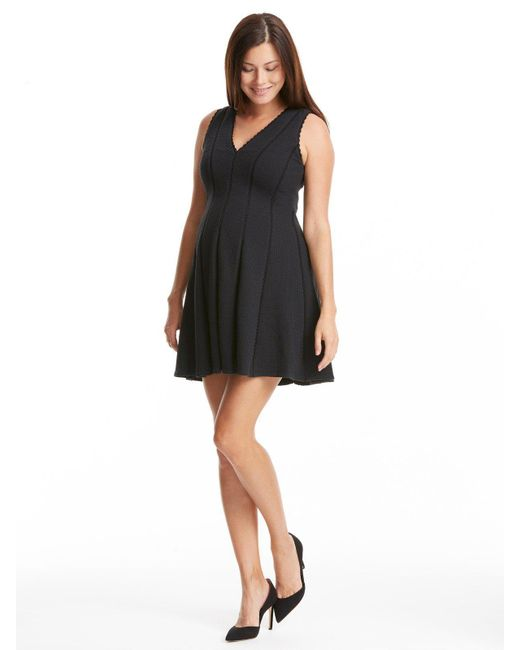 Rebecca Taylor - Black Diamond Texture Dress - Lyst