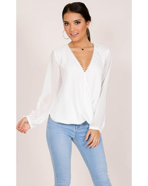 Showpo | Snap Up Top In White | Lyst