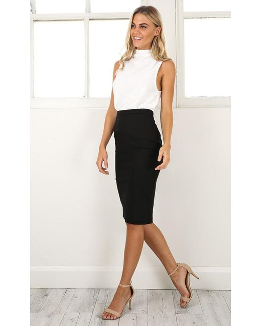 Showpo - Claim It Back Skirt In Black - Lyst