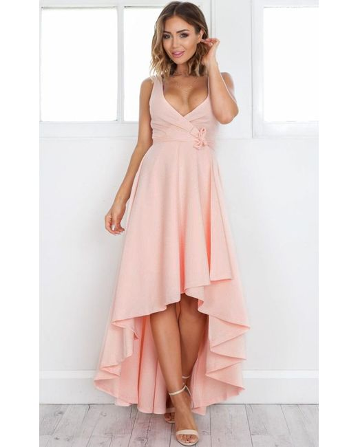 Showpo | Pink Magic Dancer Dress In Blush | Lyst