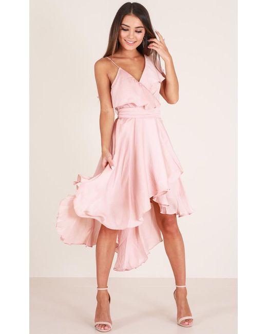 Showpo - Pink You Already Know Dress In Blush - Lyst