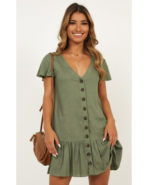a3d625f91bba ... Showpo - Green All Or Nothing Dress - Lyst ...